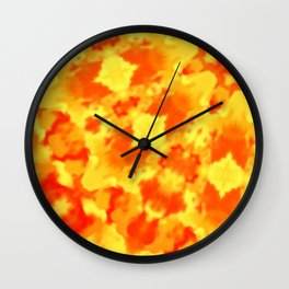 Fire Kaleidoscope 3 Wall Clock