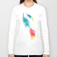 freeminds Long Sleeve T-shirts featuring Feather by Freeminds