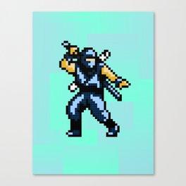 8bit Ninja Canvas Print
