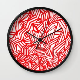 Redline (White version) Wall Clock