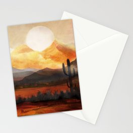 Desert in the Golden Sun Glow Stationery Cards