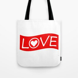 Love/Heart Tote Bag