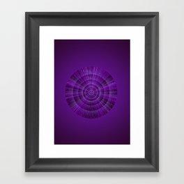 Magical Mystery Purple Shimmering Object Framed Art Print
