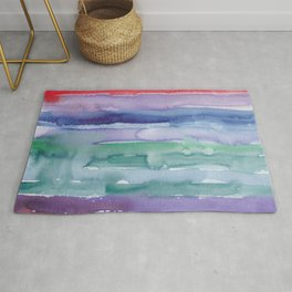 29     190907   Watercolor Abstract Painting Rug