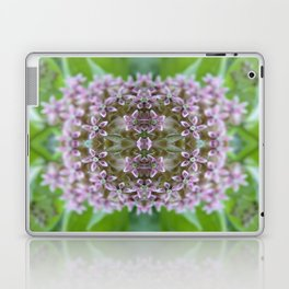 Kaleidoscope Pink Milkweed Flower Macro Photograph Laptop & iPad Skin