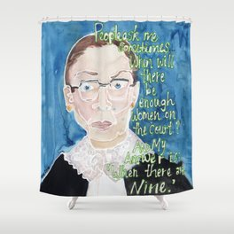 Ruth Bader Ginsburg Shower Curtain