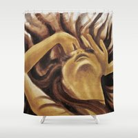 howl Shower Curtains featuring Howl by Aleksandra Jevtovic