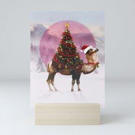 Santa Camel Mini Art Print