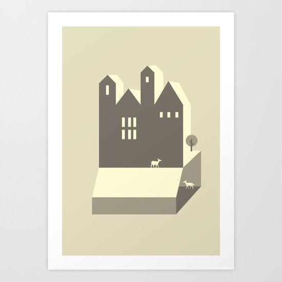 Small houses Art Print