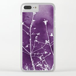 Ultra Violet Botanical Art Clear iPhone Case