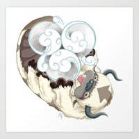 appa Art Prints featuring Appa Air Symbol by Pazzy