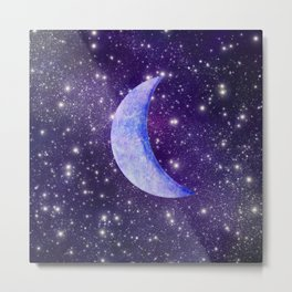 Crescent In The Stars Metal Print