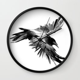 Flying Raven Wall Clock