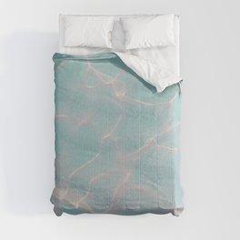 Crystalline Sea - Turquoise Light Comforters