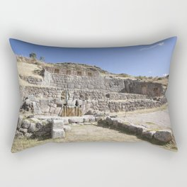 View of Tambomachay Rectangular Pillow