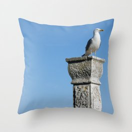Rovinj Seagull Throw Pillow