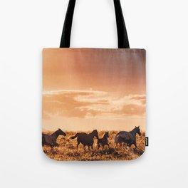 wild horses in australia Tote Bag