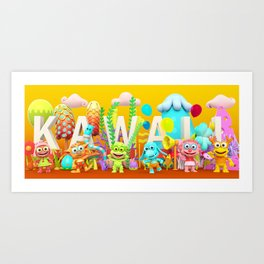 Kawaii Illustration Art Print