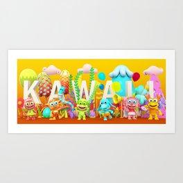 Kawaii Illustration Art Print