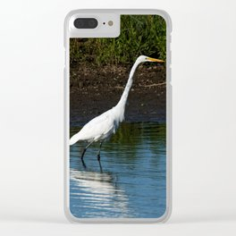 Great Egret on the Shoreline Clear iPhone Case