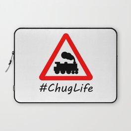 #ChugLife Warning Train Laptop Sleeve