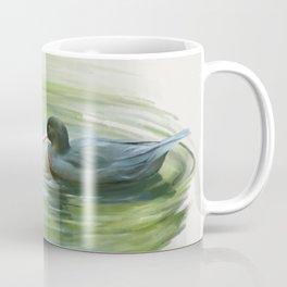 Blue Ducks in pond Coffee Mug
