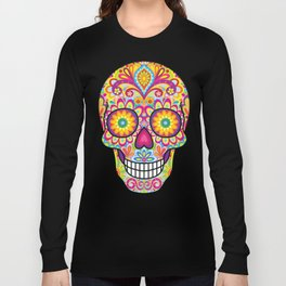 Sugar Skull Art (Spark) Long Sleeve T-shirt