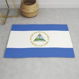 Nicaragua flag emblem Rug