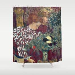 Edouard Vuillard Woman in a Striped Dress Shower Curtain