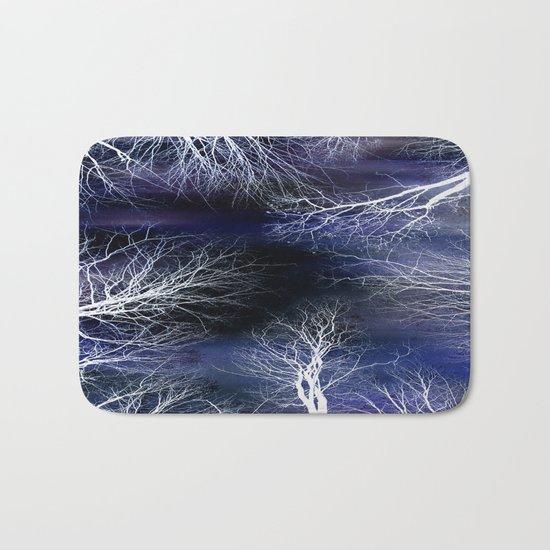Abstract Midnight Trees Bath Mat