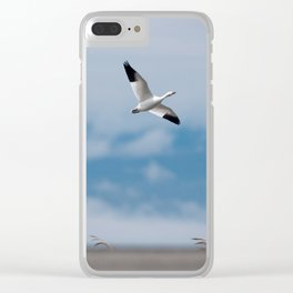 Snow Geese Migration Clear iPhone Case