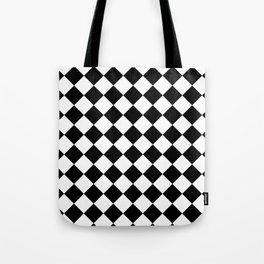 Rhombus (Black & White Pattern) Tote Bag