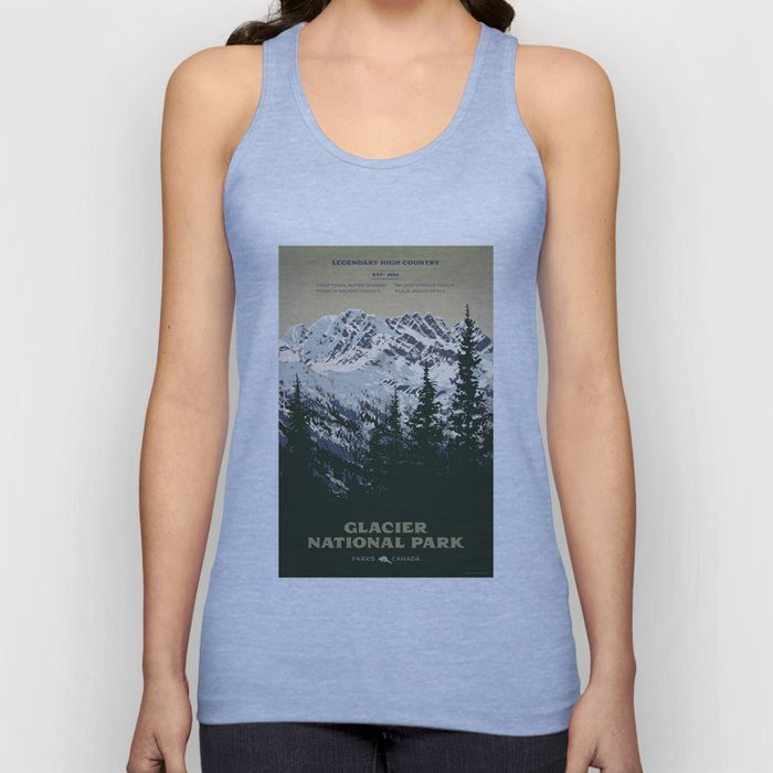 Glacier National Park Unisex Tank Top