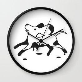 Muddy dog Wall Clock
