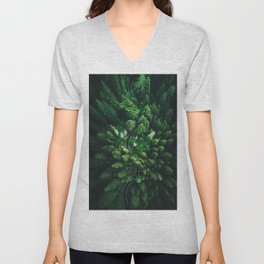 aerial view of winding road Unisex V-Neck