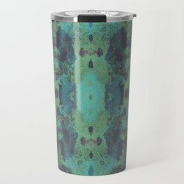 Sycamore Kaleidoscope - Graphite blue green Travel Mug