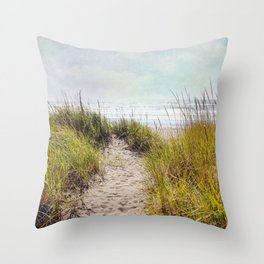 the smell of salt air Throw Pillow