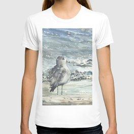 Seagull, Watercolour T-shirt