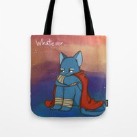whatever Tote Bags featuring Whatever by BlacksSideshow