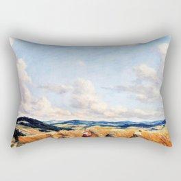 Harvest in the Czech-Moravian Highlands - Tavik Frantisek Simon Rectangular Pillow