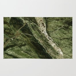Marble Rain Forest Green Rug