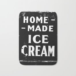 Home-made Ice Cream Vintage Sign Bath Mat