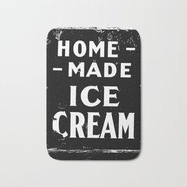Home-made Ice Cream Vintage Sign Bath Mat