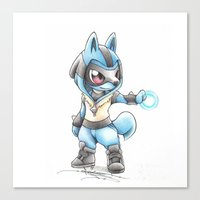 projectrocket Canvas Prints featuring Isn't he Ad-AURA-ble? by Randy C
