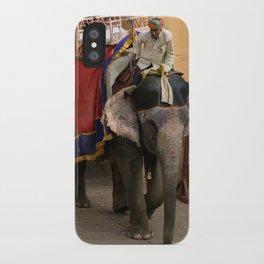 Elephants in Jaipur, India iPhone Case