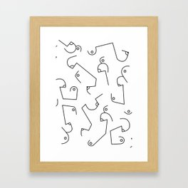 Boobies Framed Art Print