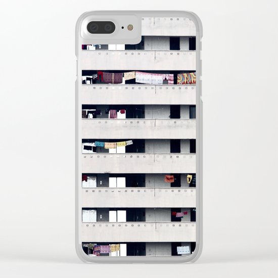 Immeuble face Clear iPhone Case