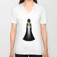 bioshock infinite V-neck T-shirts featuring bioshock infinite- elizabeth light house by Bradley Roberts
