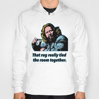 the big lebowski Hoodies featuring Big Lebowski Quote 3 by Guido prussia