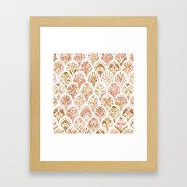 PAISLEY MERMAID Rose Gold Fish Scales Framed Art Print